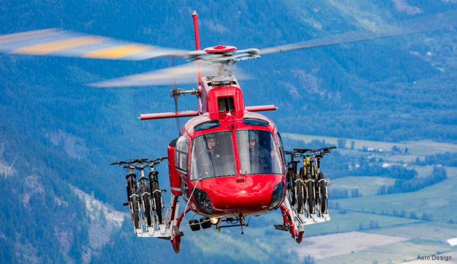 Canadian Aero Design announced Federal Aviation Administration certification for Quick Release bicycle racks for the Airbus Helicopters H125/AS350
