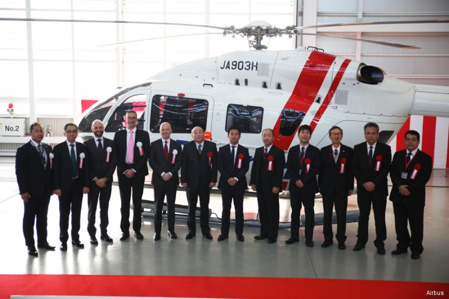 Hiratagakuen takes delivery of the first H145 | BK117 D-2 in Japan
