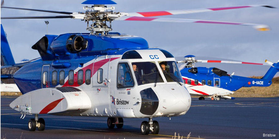 Starting September 2017 and for 5 years, Bristow S-92 and AW189 helicopters to support Apache North Sea Limited in United Kingdom Continental Shelf (UKCS) Beryl and Forties fields