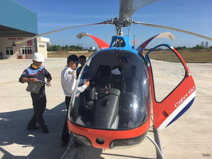VNH Training Center receive the third Cabri G2 Helicopter