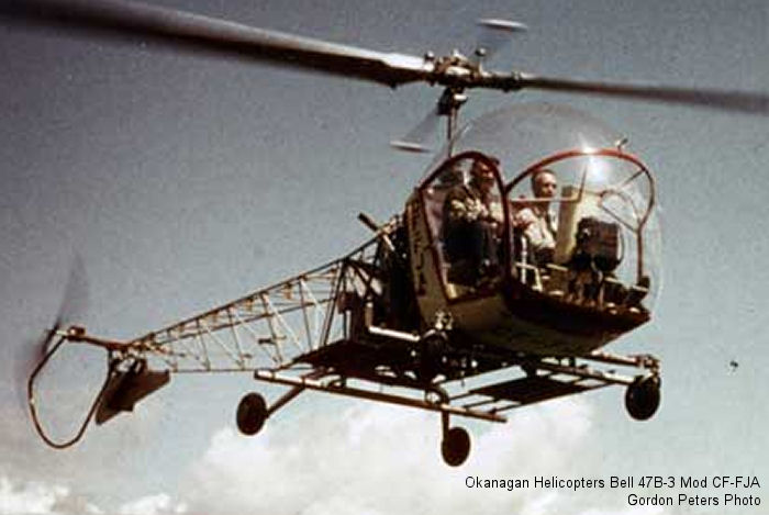 Okanagan Helicopters Bell 47B-3, Early 1950s