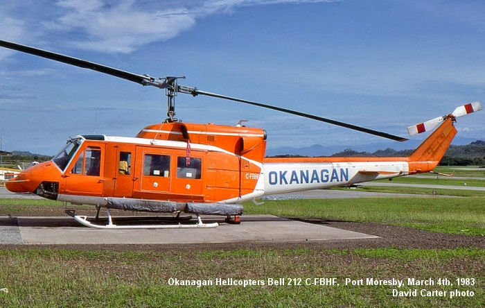 Okanagan Helicopters Bell 212, 1983 