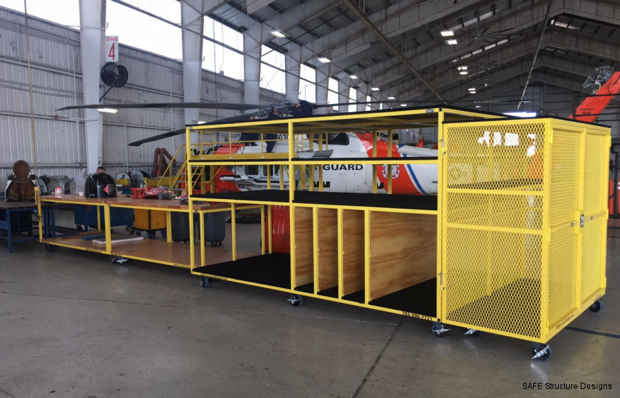SAFE Structure Designs completed the design, engineer and manufacture of its ergonomic hangar equipment outfitting for the U.S. Coast Guard MH-60 Jayhawks at USCG Clearwater, FL
