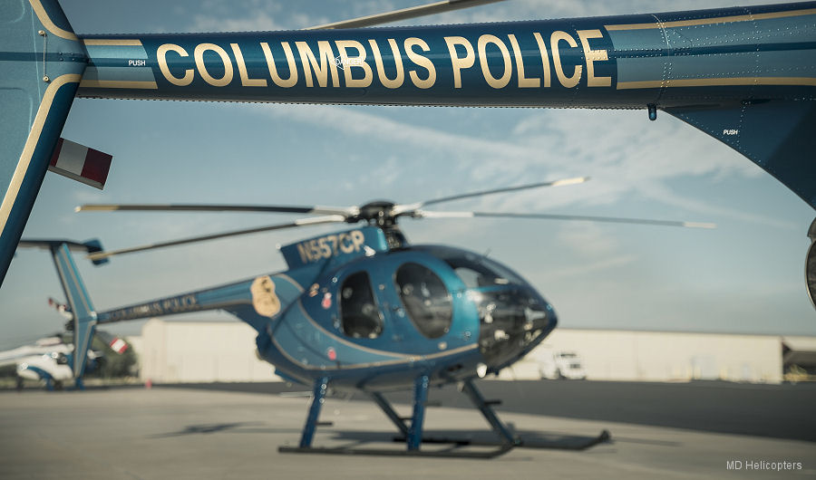 Columbus Police Department Helicopter Unit Recognized for 45 Years of Dedicated Service; 76,000 Flight Hours In MDHI-brand Aircraft