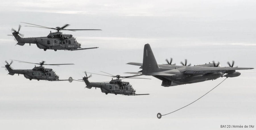 French Air Force Caracal pilots completed air refueling qualifications with USAF MC-130J at Cazaux in a new edition of the Dark Dune exercise
