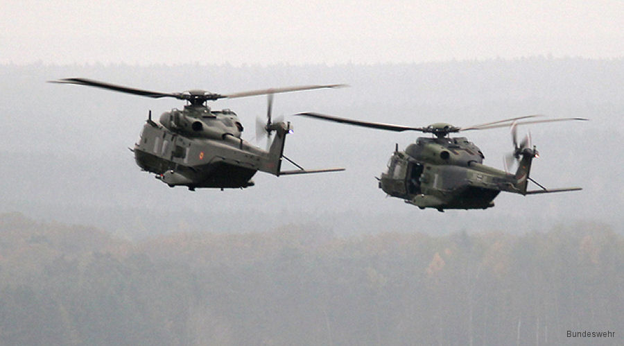 German and Belgian NH90 in DUSTER III Exercise