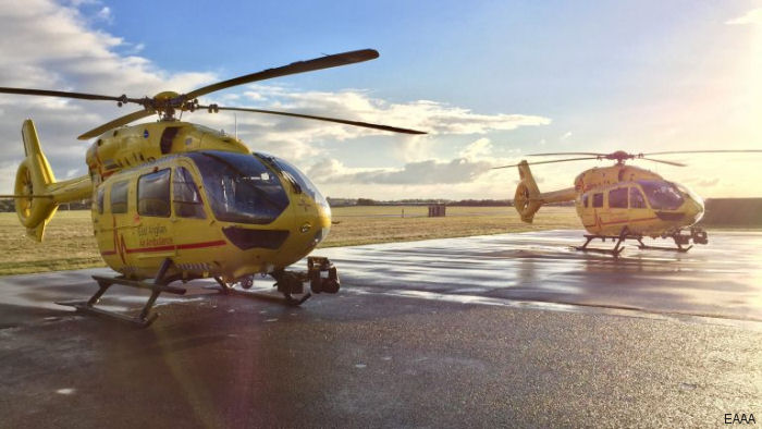 UK's East Anglian Air Ambulance (EAAA) flew its 20,000th mission. Started in year 2000, they used Bo105, Bk117, EC135 and now brand new H145/EC145T2
