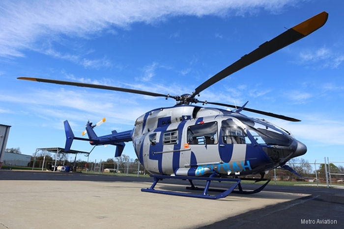 Metro, with Genesys Aerosystems, received a Supplemental Type Certificate (STC) for the installation of the Genesys Aerosystems Electronic Flight Instrument System (EFIS) on the EC145e (BK117C2e)
