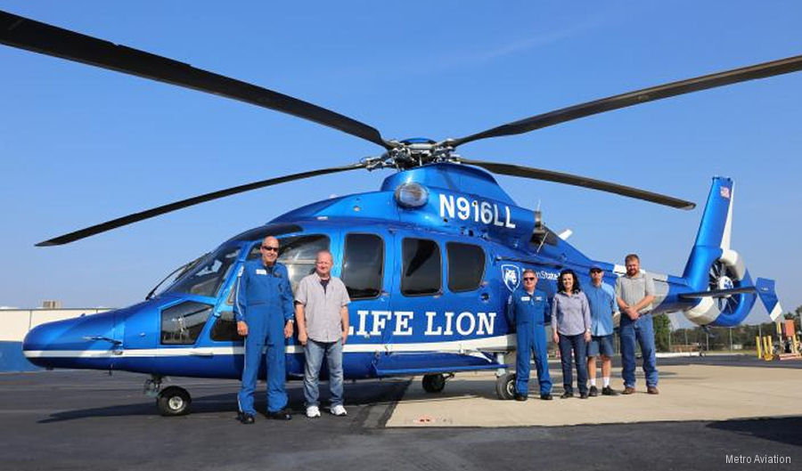 Pennsylvania' Life Lion received a EC155 previously used for VIP transport in Malaysia and converted to a medical configuration by Metro Aviation