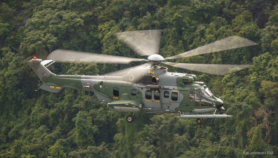 The Força Aérea Brasileira 10 Helibras EC725BR / H225M helicopters, called H-36 Caracal, reaches 10,000 flight hours in 6 years of operations. Eight more are scheduled to be delivered to the FAB