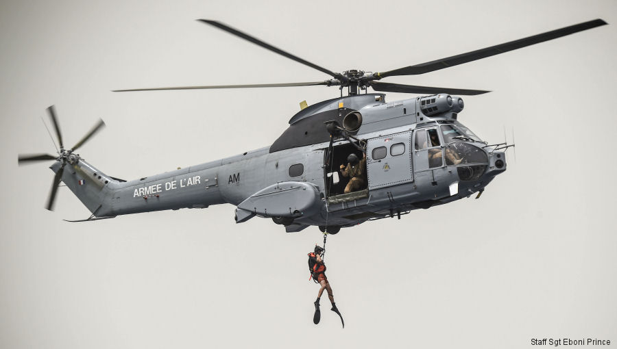 USAF PJs from 82nd Expeditionary Rescue Squadron (ERQS) and the French Air Force's Transport Squadron ET 88 based at Djibouti 