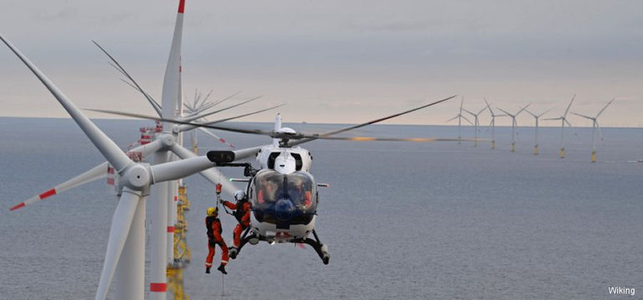 Wiking Helikopter from Germany awarded its first long term heli hoist service contract in the UK. A brand new H145/EC145T2 will be use to support the Siemens Gamesa' Galloper offshore wind farm