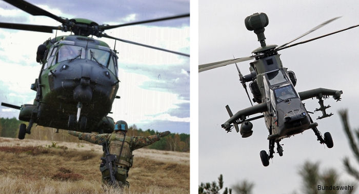 The German Army deploying 4 NH90 and 4 Tiger helicopters to Mali under UN Mission MINUSMA replacing Dutch Chinook and Apaches. Will remain in country until Mid-2018.