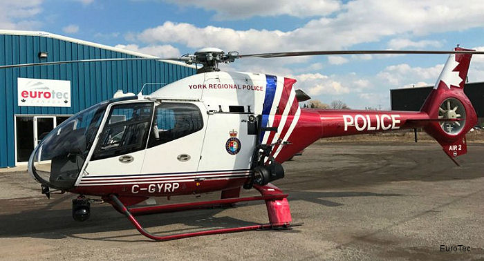 EuroTec Canada upgraded the York Regional Police's H120 helicopter, Air2, with high definition (HD) video equipment to complement its HD infrared camera system