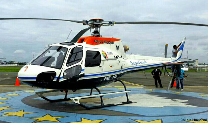 Ecuador National Police received its fifth AS350 / H125 helicopter