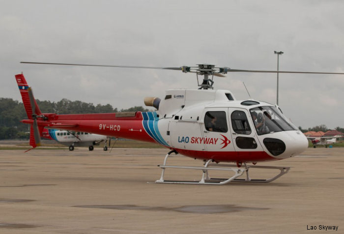 Lao Skyway (ex Lao Air), the only helicopter operator in Laos, received a H125 to join its fleet of 5 AS350B2 and 4 Mi-171