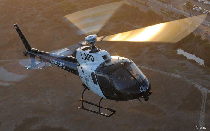 Los Angeles Police Department (LAPD) Air Support Division ordered four new Airbus H125/AS350B3e AStars as part of a long-term plan to upgrade its entire patrol helicopter fleet