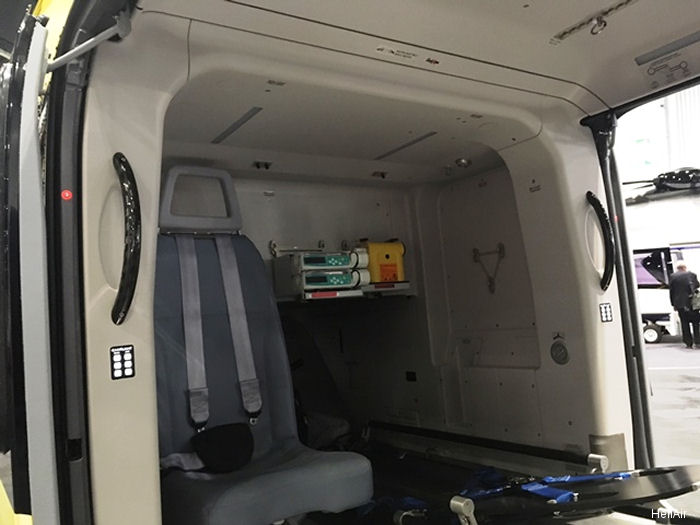 Austria'  HeliAir, ÖAMTC Air Rescue's very own maintenance facility, is showcasing helicopter interior Kokon (Cocoon) at Helitech 2017 in London