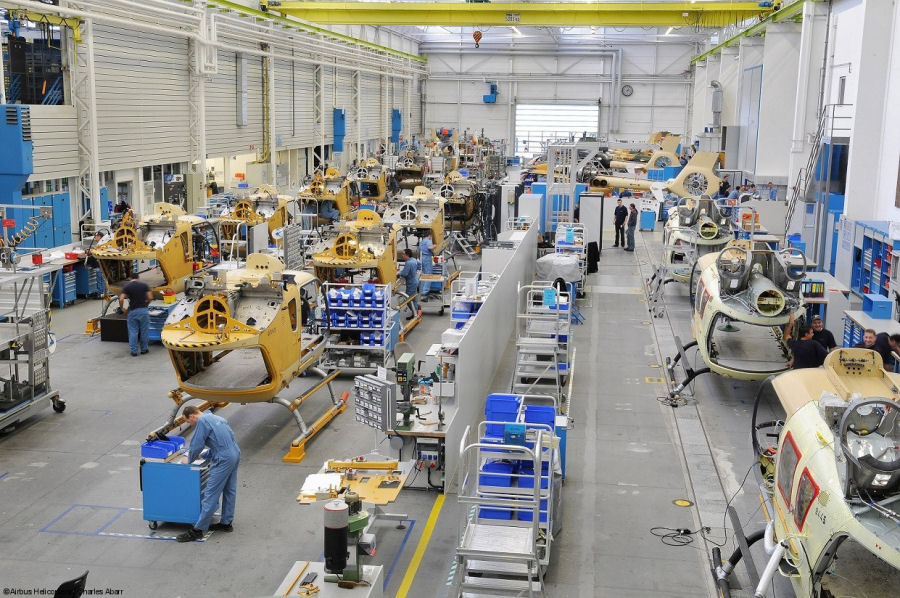 The H135 Final Assembly Line (FAL) in Germany