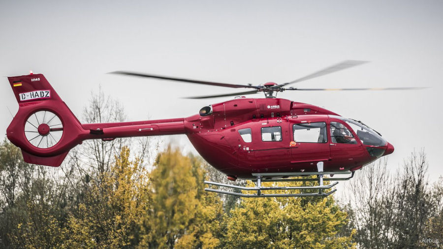 Germany' Helicopter Travel Munich (HTM) recently took delivery of the 150th H145 / EC145T2 helicopter built in Donauwörth. Will be used from next January in Emden for offshore wind farms support