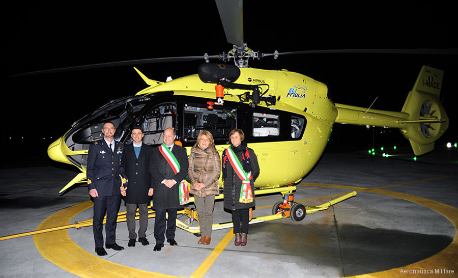 EliFriulia H145/EC145T2 ambulance operated on behalf the Integrated University Health Authority of Udine will be based in a new helipad within the Italian Air Force' Campoformido logistics base