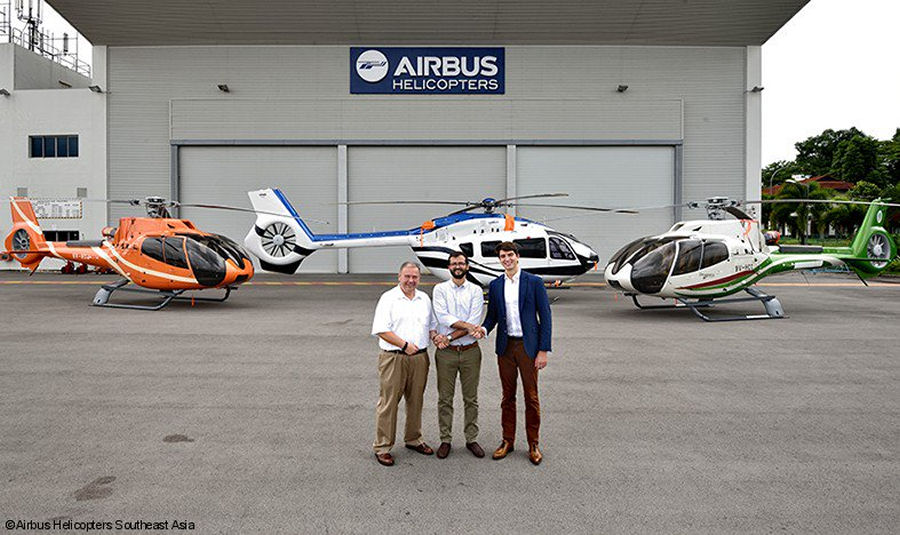 Airbus Helicopters Southeast Asia completed delivery of 3 H130, 2 H145 and 1 H155 to civilian customers in the Philippines during 2017 including the first H145/EC145T2 to PhilJets