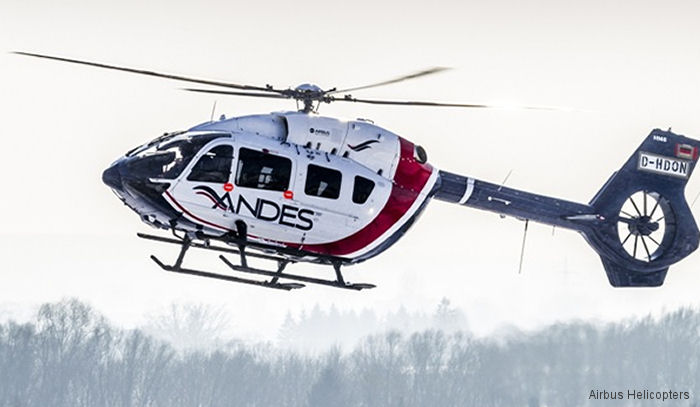 Waypoint Leasing delivered a new H145 / EC145T2 to Servicios Aéreos de los Andes, first of its type in Latin America, to support MMG/Las Bambas' mining operations in Cusco