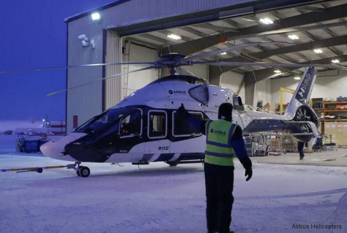 H160 at Yellowknife to perform cold weather campaign in extreme temperatures