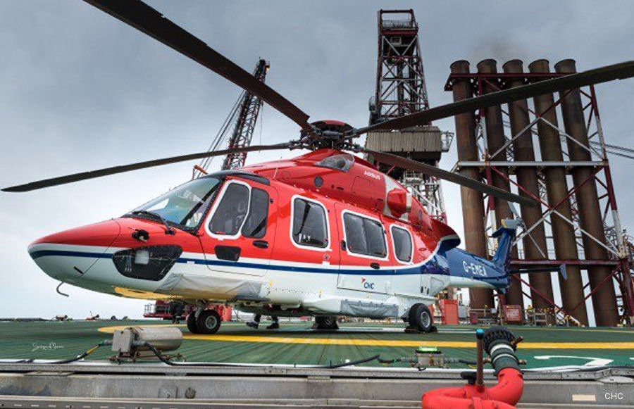 CHC celebrated the inaugural flight of the new H175 helicopter serving Shell to the Ocean Patriot from Aberdeen, Scotland
