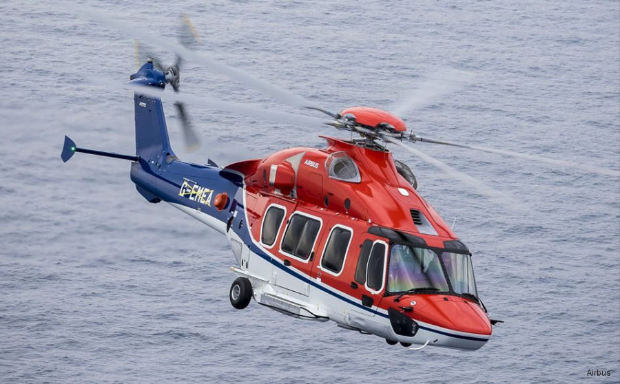 CHC take delivery of its first H175 for use in offshore oil and gas operations from Aberdeen, Scotland
