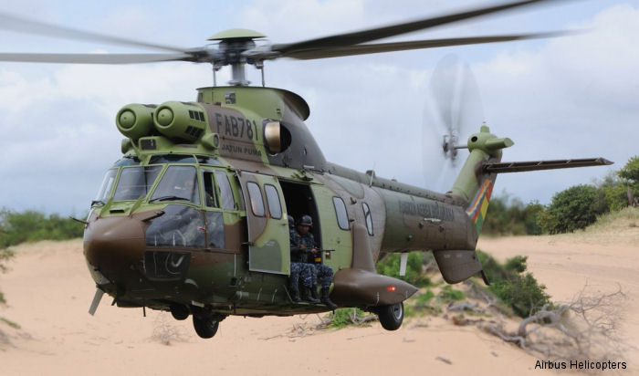 "Bolivian air force new helicopters, six AS332C1e / H215 ""Jatun Pumas"" being used in anti-drug trafficking missions"