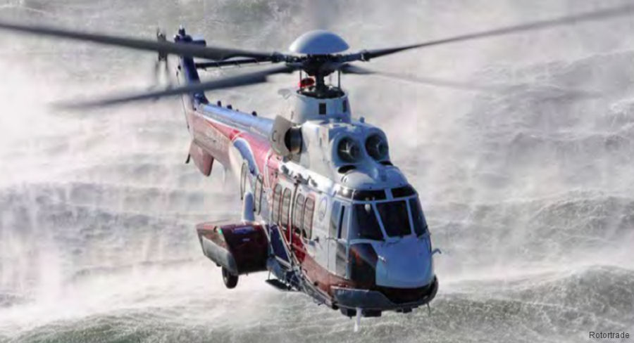 Singapore' Rotortrade put back into service 3 almost new ex CHC H225 helicopters in storage by Vector Aerospace. Two, with 20 and 285 hours, are in SAR version and the other for offshore transport