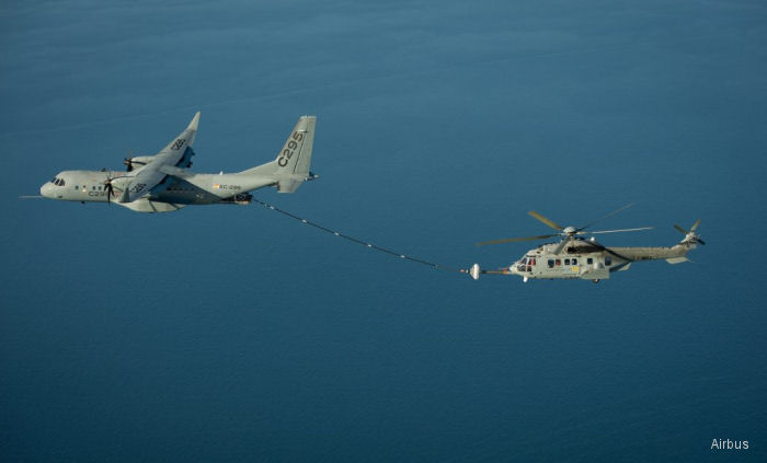 Airbus C295W Demonstrates Refuelling Contacts With Helicopter