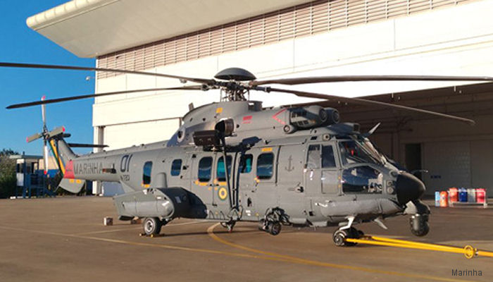 Helibras delivered the first of three H225M/EC725, named UH-15A Super Cougar, in Combat Search and Rescue (CSAR) configuration to the HU-2 Squadron of the Brazilian Navy