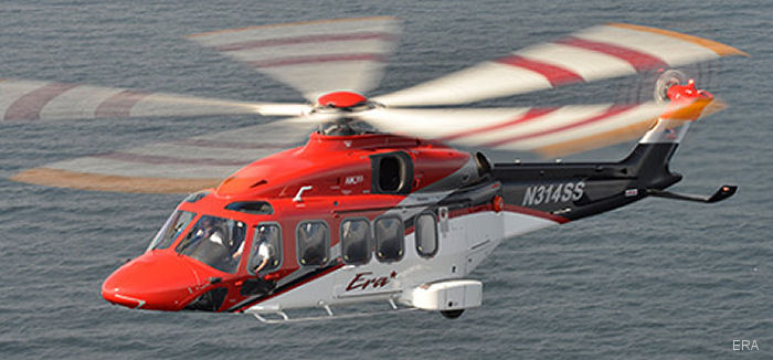 Era, launch customer for the AW189 in the Americas, will display one of the helicopters at Heli-Expo 2017 in Dallas, Texas March 7-9