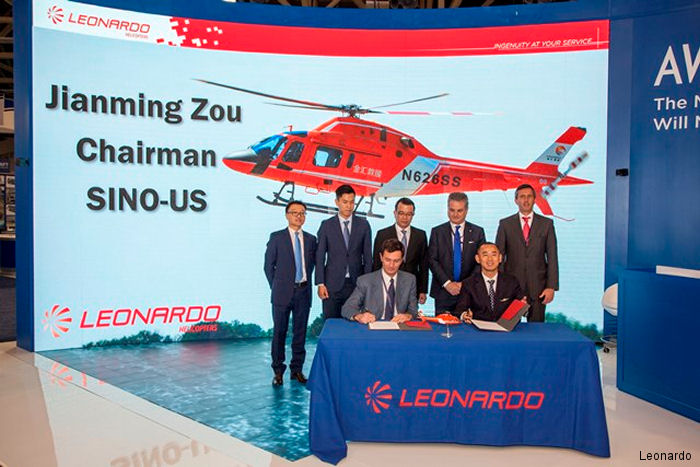 Sino-US Intercontinental, part of Shanghai Zenisun, renewing the existing Distributorship Agreement as the sole distributor in China (including Hong Kong and Macau) of Leonardo's civil helicopters