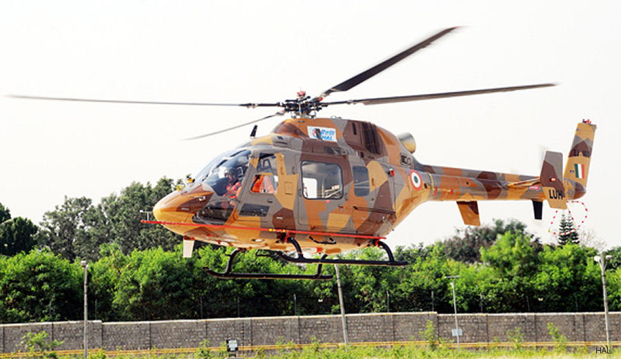 Hindustan Aeronautics Ltd (HAL) carried out first flight of Light Utility Helicopter (LUH) PT-2 on May 22, 2017 at its facility in Bengaluru. PT-1 maiden flight was on September 2016