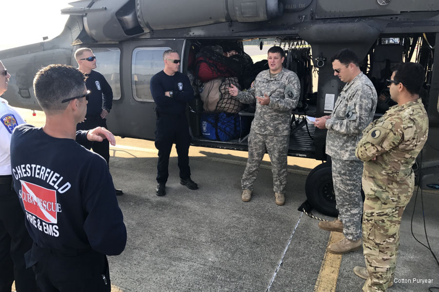 Virginia National Guard Helicopters to Texas