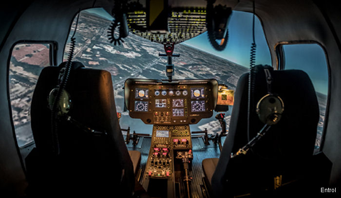 Entrol from Madrid, Spain has sold its first H03 / EC120 FNPT II simulator to the Helang Flying Academy in Malaysia