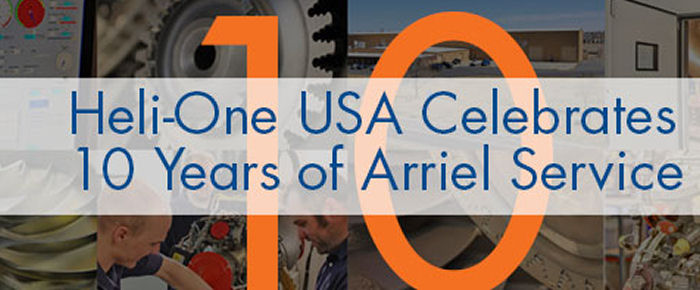 Heli-One USA Celebrates 10 Years Of Arriel Service