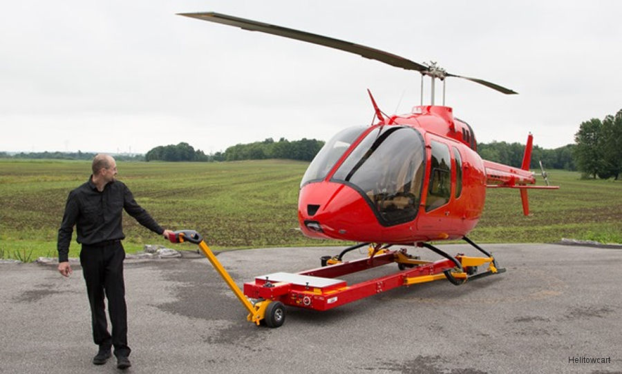 Helitowcart from Quebec, Canada announced its popular Heli Carrier solution had been adapted to support the new Bell 505 JetRanger X helicopter