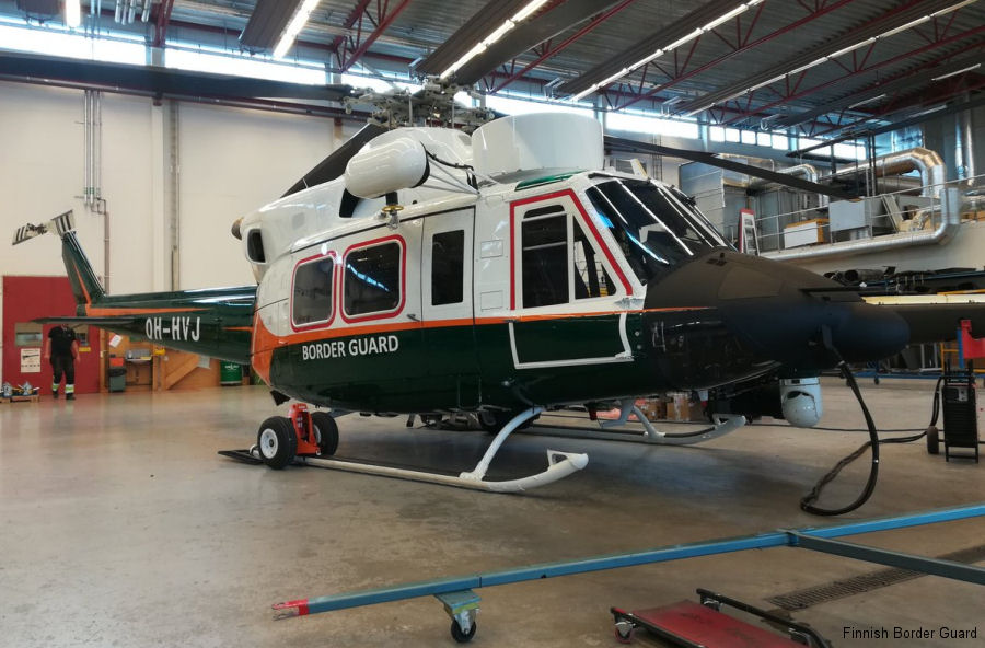 Patria to deliver another modernized Agusta AB412EP to the Finnish Border Guard next November