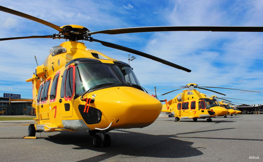 Airbus Helicopters and NHV celebrate three years since the introduction of the first two H175 to the North Sea offshore transport operations. Ten H175s now accumulated 15,000 flight hours