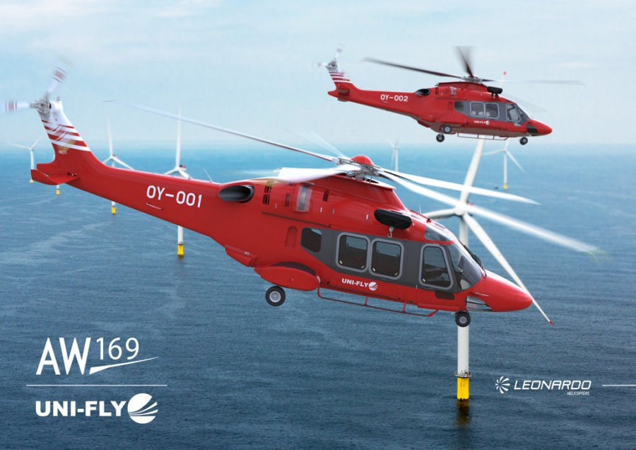 CHC, with Uni-Fly as a sub-contractor, wins 6-year contract to operate AW139 and AW169 from Humberside to support the first phase of DONG Energy's Hornsea Project One offshore wind farm