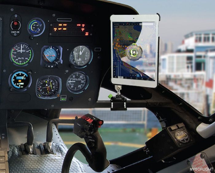 MyGoFlight, maker of premium iPad and tablet gear for pilots, announced the release of three new iPad/GoPro mounts designed specifically for Robinson, Airbus and other helicopters