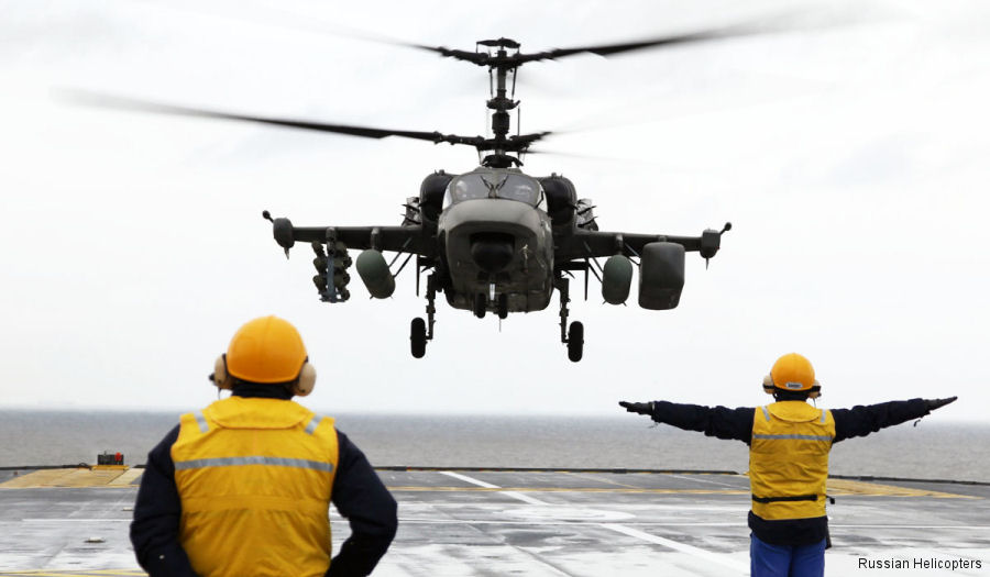 Russian Helicopters completed first phase of maritime trials of the Kamov Ka-52K naval attack helicopter