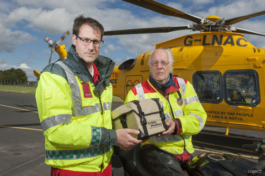 Lincolnshire and Nottinghamshire Air Ambulance now carrying blood on board the helicopter enabling crew to undertake on-site blood transfusions for the very first time
