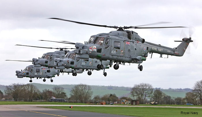 815 Naval Air Squadron held a ceremony to say goodbye to the Westland Lynx helicopter, mainstay of operations by Royal Navy around the globe since the late 1970s