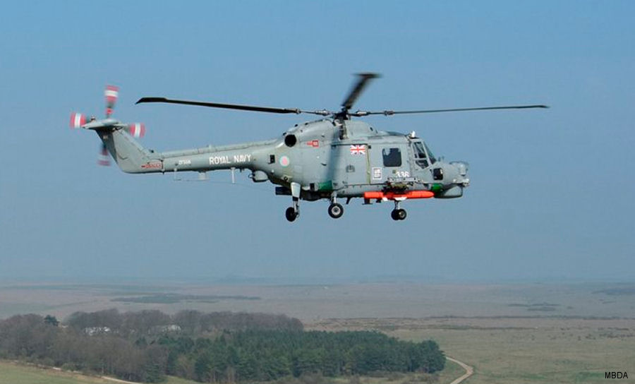 QinetiQ and the Royal Navy conducted trials at  Boscombe Down between a Lynx Mk8 helicopter and the MBDA Sea Venom/ANL anti-ship missile