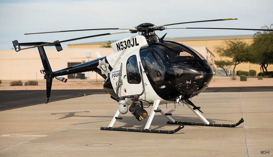 A similar MD530F recently acquired by Las Vegas Metro  Police
